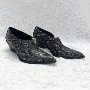 Zara Snake Print Western Cowboy Ankle Boots
